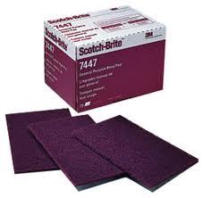 3M 7447+ Scotch-Brite brusná rohož červená 158x224mm