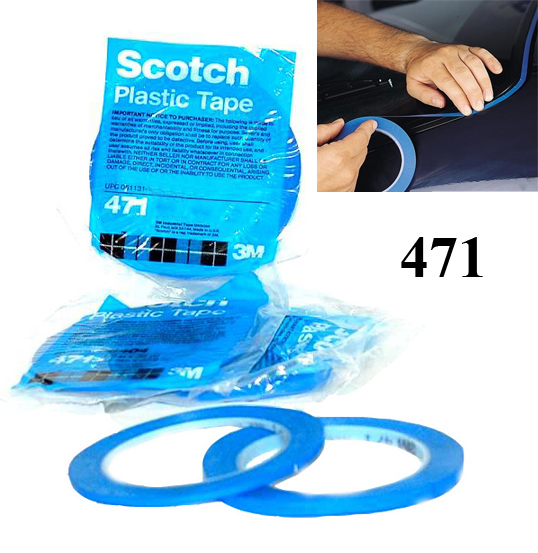 3M 6404 Obrysová páska PVC modrá 3mmx33m