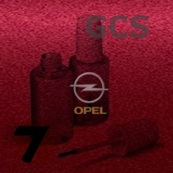 OPEL - GCS - VELVET RED metal. barva retušovací tužka