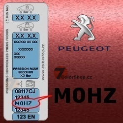 PEUGEOT M0HZ ROUGE BOUGAINVILLIERS metalická barva Sprej 400ml