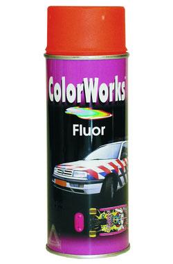 ColowWorks Fluor Signální červená Spray 400ml