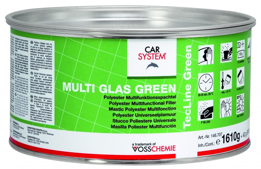 Carsystem Multi Glas Green 1,65kg tmel