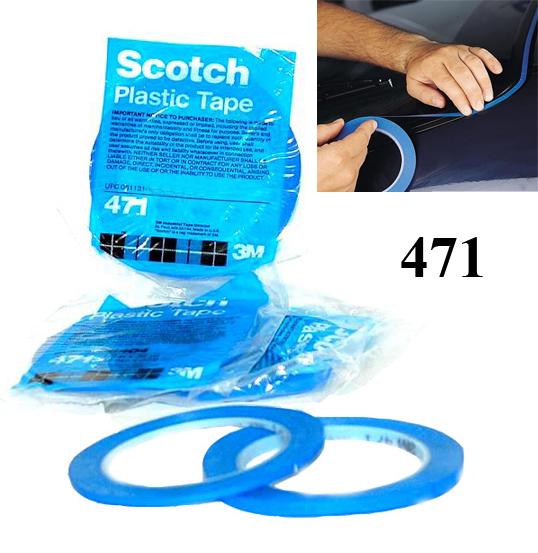 3M 6405 Obrysová páska PVC modrá 6mmx33m