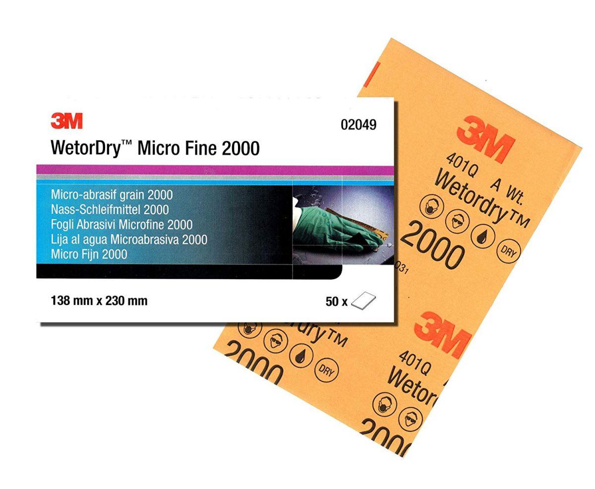 3M Sanding paper Micro Fine 2000 wetordry