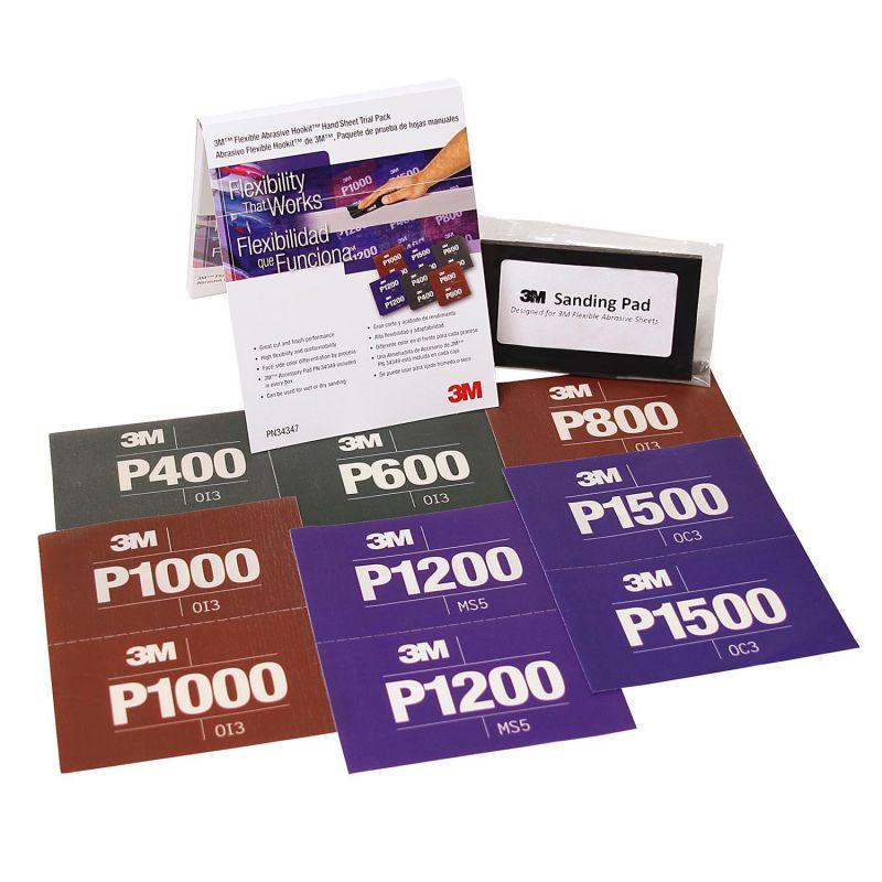3M 34343 Flexibilní papír P1500 s.z. 140x171 mm