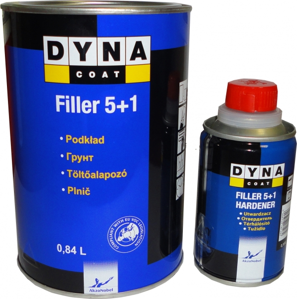 Dynacoat plnič akrylový černý 5+1 1L set