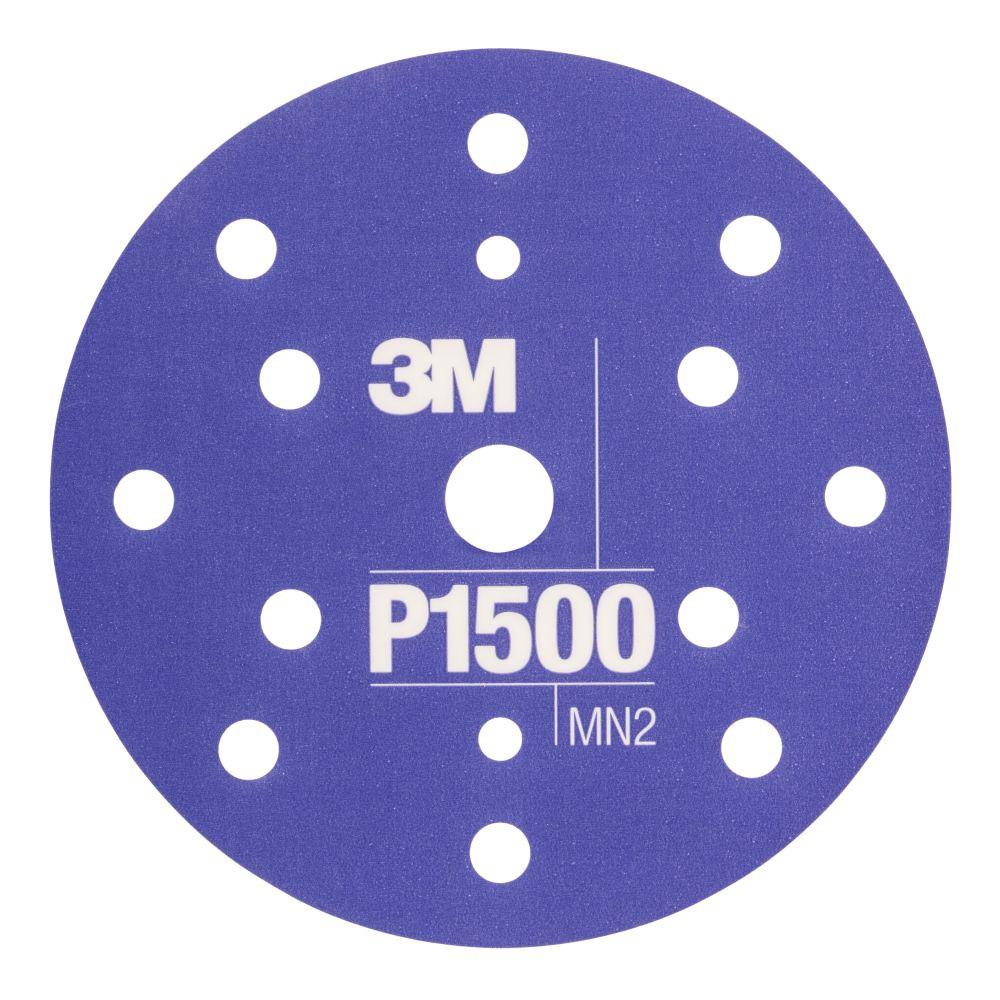3M 34423 Flexibilní brusný kotouč P1500 150 mm 15děr