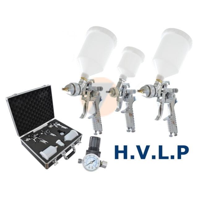 Stříkací pistole HVLP 1.4, 1.7 a minipistole HVLP 0,8 set