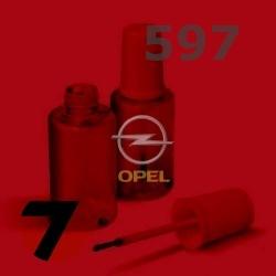 OPEL - 597 - CALYPSO RED červená barva - retušovací tužka