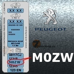 PEUGEOT M0ZW GRIS FER metalická barva tužka 20ml