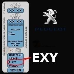 PEUGEOT EXY NOIR ONYX barva tužka 20ml