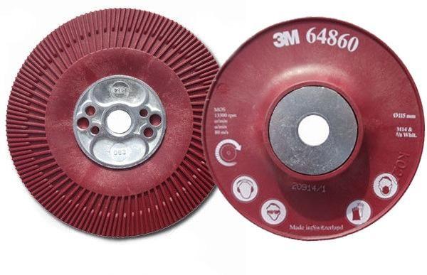 3M 64860 Podložka pod fíbrové kotouče, závit M14, vroubkovaná, červená