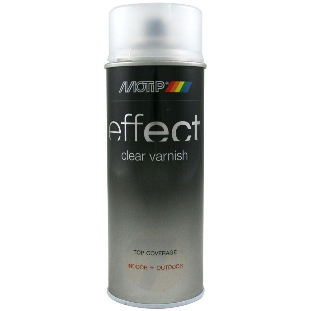 Motip Deco Clear Varnish bezbarvý akrylový lak polomat Spray 400ml
