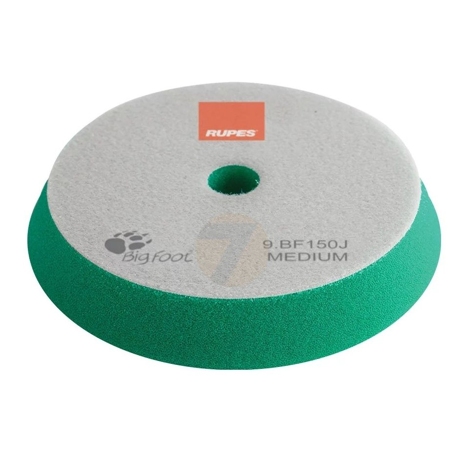 RUPES Velcro Polishing Foam Medium Green dia 130/150 mm