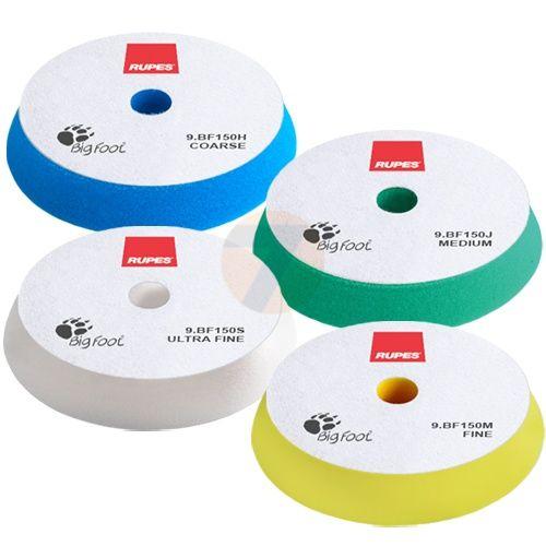 RUPES Velcro Polishing Foam Fine Yellow dia 130/150 mm
