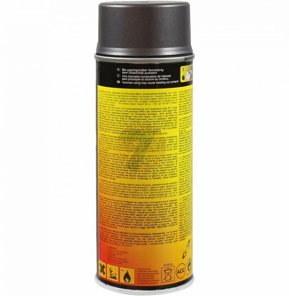 Dupli-ColorSUPERTHERM heat resistant paint 600°C iron grey spray 400ml