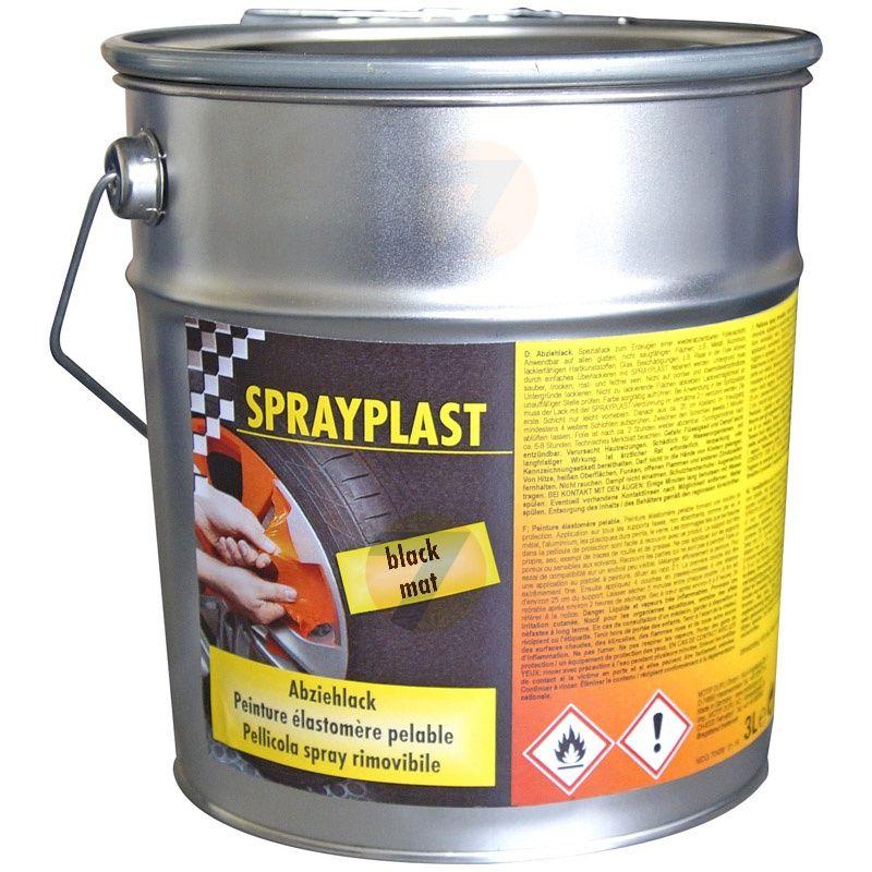 Dupli-Color Sprayplast Matt black peelable elastomer paint 3L