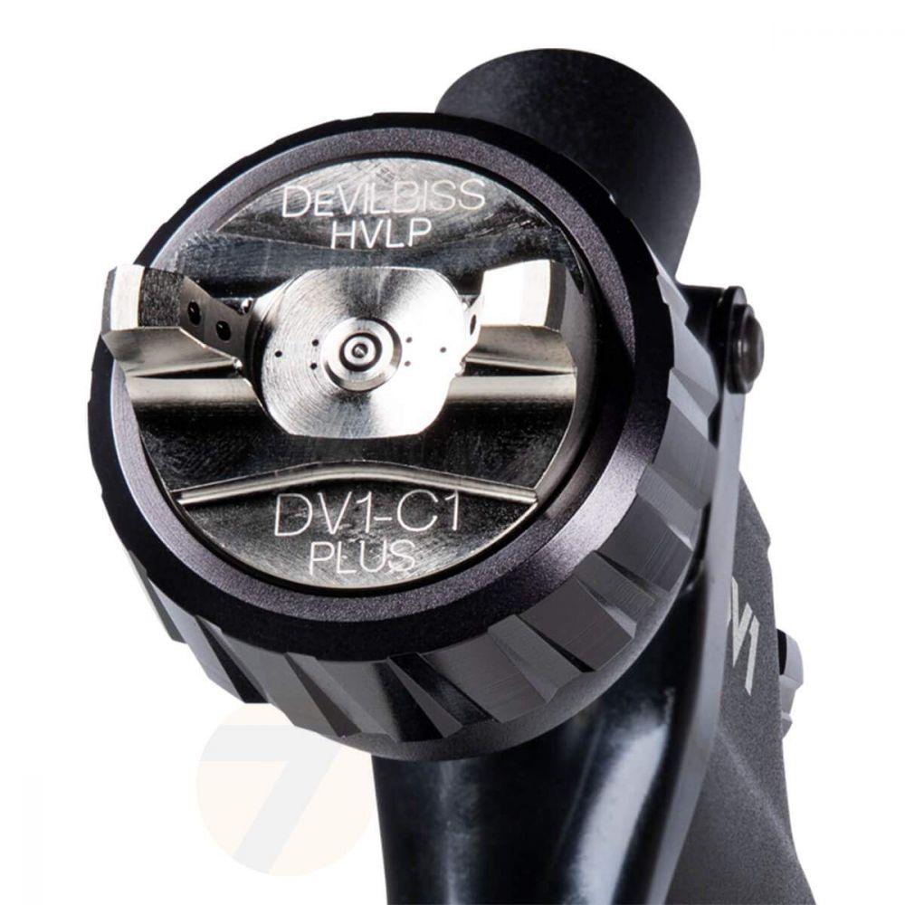 DeVilbiss DV1 HVLP Plus Clearcoat Spraygun 1.3+ Cup Kit