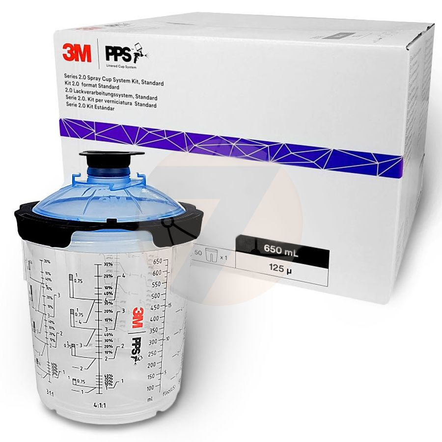 3M PPS Series 2.0 Kits, Standard, 650 ml, 125 μ, 26026