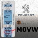 PEUGEOT M0VW GRIS THALLIUM metalická barva tužka 20ml