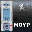 PEUGEOT M0YP GRIS ORURO metalická barva tužka 20ml