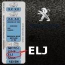 PEUGEOT ELJ METALLIC BLACK metalická barva tužka 20ml
