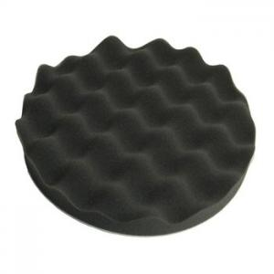 Polishing pad waffle Soft, black D150mm, velcro