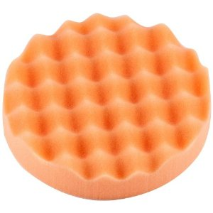 Polishing pad waffle medium, orange D150mm, velcro