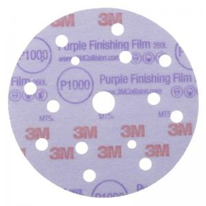 3M 51154 Hookit 260L+ Finishing Film Discs 15 holes, P1500