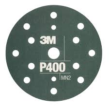 3M 34417 Flexible Abrasive Disc P400 150mm 15 Holes Hookit