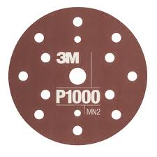 3M 34421 Flexible Abrasive Disc P1000 150mm 15 Holes Hookit