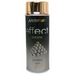 Motip Chrom effect Gold spray 400 ml