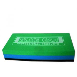 Blue-green sanding pad with sponge 140x75x30mm