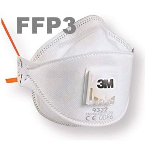 3M 9332+ Aura mask FFP3 with valve FFP3